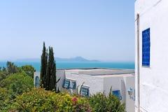 Sidi Bou dito, Tunísia fotografia de stock