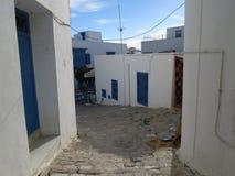 Sidi Bou Powiedział, famouse wioska z tradycyjną tunezyjczyk architekturą obraz stock