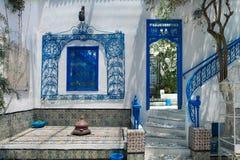 Sidi Bou sade La Gulett, Tunisien Royaltyfria Foton