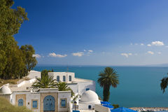 Sidi Bou Said. Tunisia. Sidi Bou Said - typical building with white walls, blue doors and windows Stock Photography
