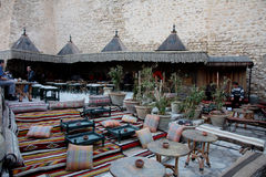 Sidi Bou Said cafe, Hammamet Stock Photography