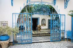 Sidi Bou Said courtyard Stock Image