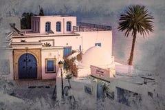 Sidi Bou Said, famouse village with traditional tunisian architecture. Stock Image