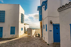 Sidi Bou Said, famouse village with traditional tunisian architecture. Stock Images