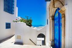 Sidi Bou Said La Gulett, Tunesië Stock Afbeeldingen