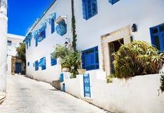 Sidi Bou Said La Gulett, Tunesië Stock Fotografie