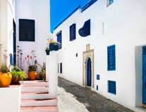 Sidi Bou Said. La Gulett, Tunisia stock photography