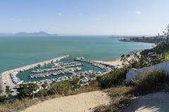 Sidi Bou Said marina Royalty Free Stock Image