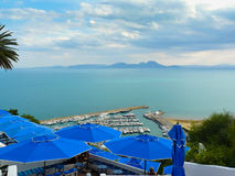Sidi Bou Said port in Tunisia Royalty Free Stock Images