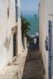 Sidi bou Said street view Royalty Free Stock Photos