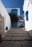 Sidi-Bou-Said, Tunisia. Architecture of Sidi-Bou-Said, Tunisia Royalty Free Stock Images