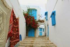 Sidi Bou Said in Tunisia Fotografia Stock Libera da Diritti