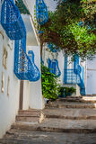 Sidi Bou Said - typical building with white walls, blue doors an Stock Image