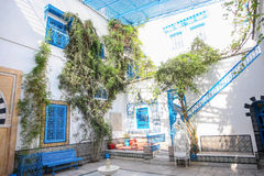 Sidi Bou Said typical house Royalty Free Stock Image