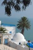 SIDI BOU SAID. A view of the Mediterranean Sea Royalty Free Stock Image