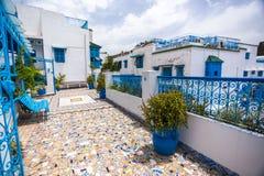 Sidi Bovengenoemde Bou, Tunesië Stock Afbeeldingen