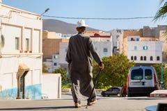Sidi Ifni, Maroc - 11 novembre 2016 : Scènes complètement de couleurs dedans Photographie stock libre de droits