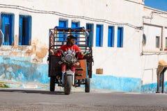 Sidi Ifni, Marokko - 11. November 2016: Szenen voll von Farben herein Lizenzfreie Stockfotografie