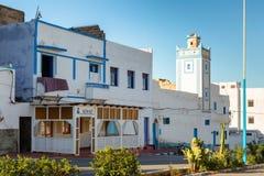 Sidi Ifni på kusten av Marocko Arkivbild