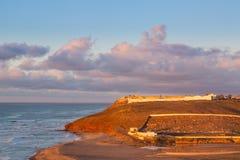 Sidi Ifni på kusten av Marocko Arkivfoton