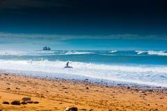 Sidi ifni surfer Royalty Free Stock Photo
