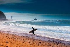 Sidi ifni surfer Stock Image