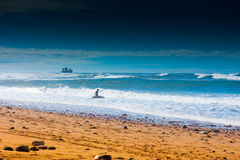 Sidi ifni surfer Royalty Free Stock Photo