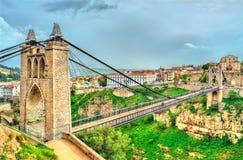 ` Sidi M Cid-Brücke über dem Rhummel-Fluss in Constantine, Algerien lizenzfreies stockbild