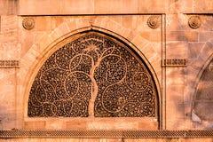 Sidi Saiyyed moské, Ahmadabad Arkivfoto