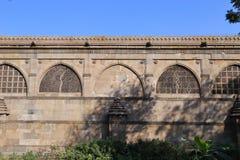 Sidi Saiyyed moské på Ahmedabad i indier royaltyfri bild