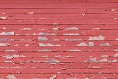 Siding амбара краски шелушения красный Стоковое Фото