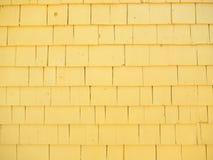 Siding för gult cederträ Arkivbild