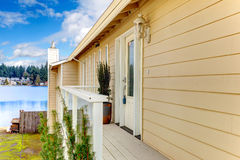 Siding house wiht front deck Royalty Free Stock Photos