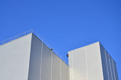 Siding on industrial high-rise building Royalty Free Stock Image