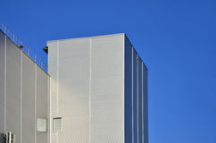 Siding on industrial high-rise building Royalty Free Stock Photography