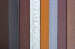 Free Siding Made In The Texture Of Wood Samples Close Up Royalty Free Stock Photography - 105041587