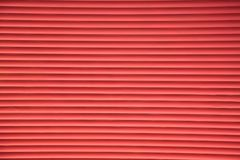 Siding Of Blinds Metal Red Louvers Background Stock Photography