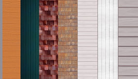 Siding samples Royalty Free Stock Photography