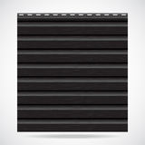 Siding texture panel black color Stock Photography