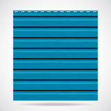 Siding texture panel cyan color Stock Images