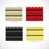 Siding texture sample small color icons. Stock Images