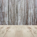 Siding weathered wood and bamboo Royalty Free Stock Photos