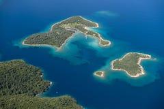 Sidir或帕特拉海岛鸟瞰图  库存照片
