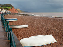 Sidmouth Beach Devon England stock photo