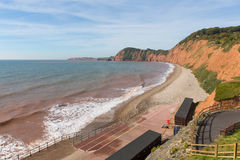Sidmouth beach Devon west side of this popular tourist town Stock Photography