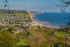 Sidmouth, côte jurassique, Devon, R-U photo stock