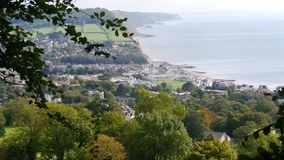 Sidmouth in Devon England. The coastal town of Sidmouth in Devon England,very popular with tourists all year round royalty free stock photo