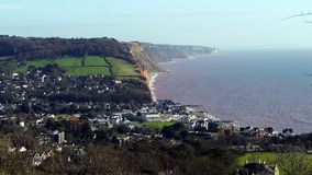 Sidmouth Devon England. The popular coastal resort of Sidmouth in East Devon England Stock Photo