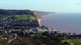 Sidmouth Devon England stock photo
