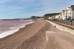 Sidmouth Devon England Reino Unido con una visión a lo largo de la costa jurásica Fotografía de archivo libre de regalías